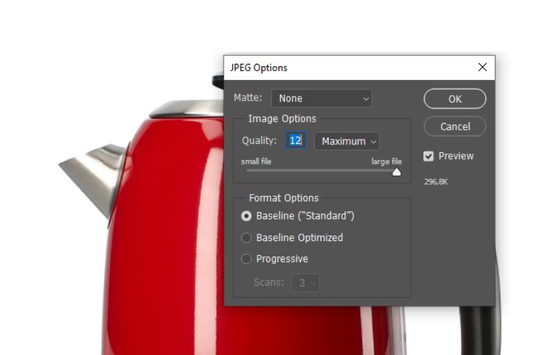 Optymalizator obrazu Photoshop