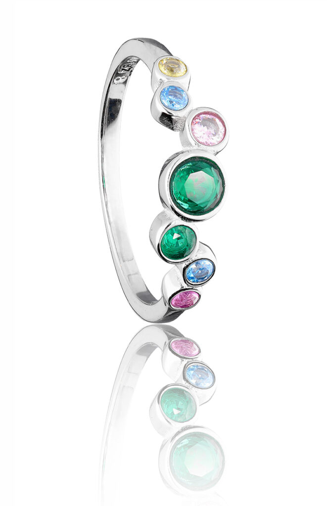 silver ring - jewelry photo - Hard light